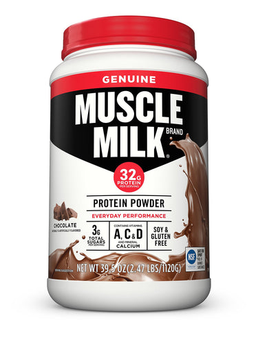 Muscle Milk Genuine Protein Powder, Chocolate, 32g Protein, 2.47 Pound (Packaging May Vary) - Men Guide Store