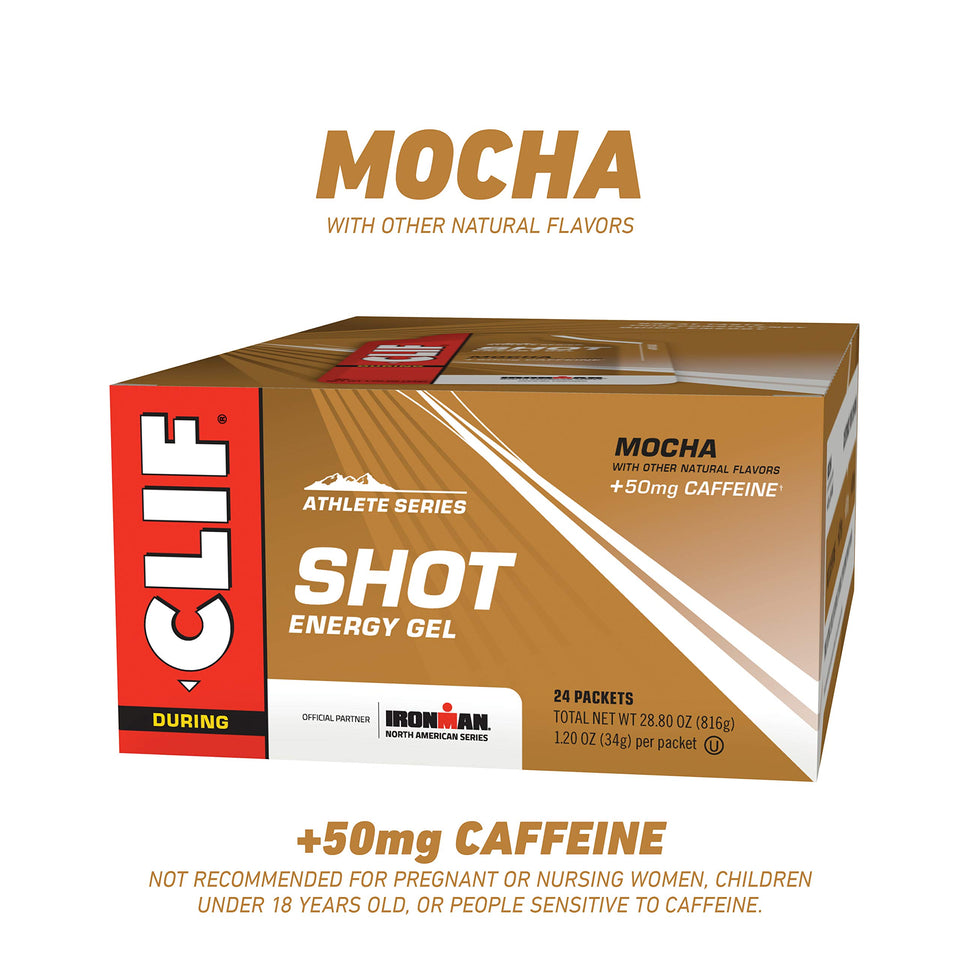 CLIF SHOT - Energy Gels - Mocha Flavor - 50mg Caffeine (1.2 Ounce Packet, 24 Count) (Packaging May Vary) - Men Guide Store