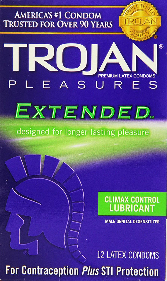 Trojan Extended Climax Control Lubricated Condoms - Men Guide Store