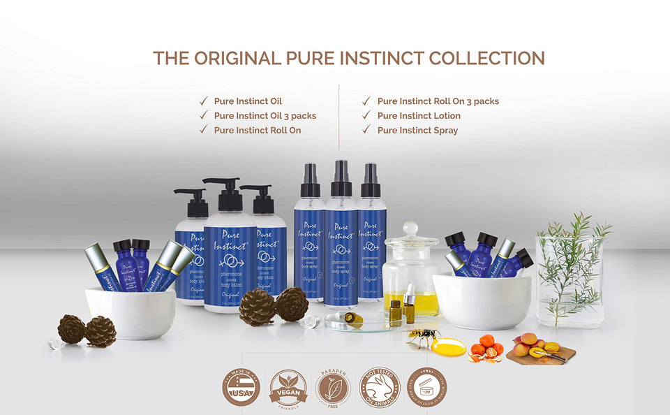 Pure Instinct - The Original Pheromone Infused Essential Oil Perfume Cologne - Men Guide Store