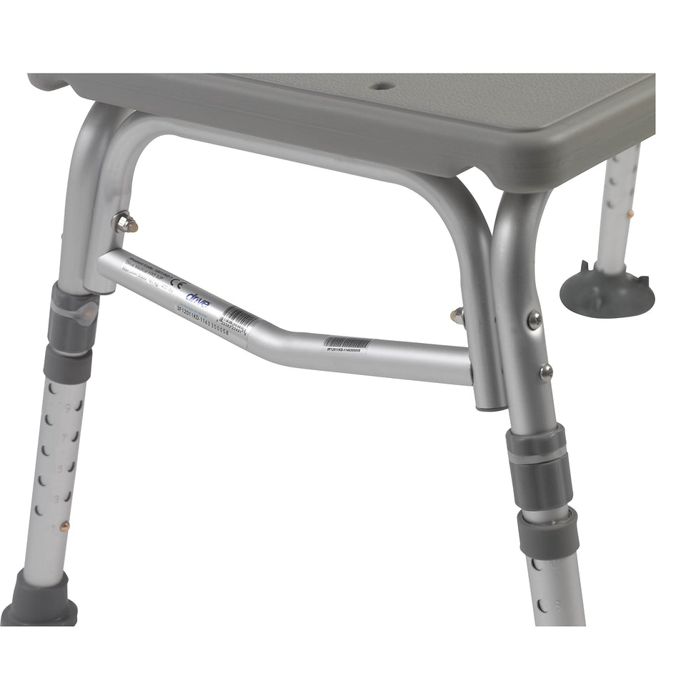 Drive Medical Plastic Tub Transfer Bench with Adjustable Backrest (color may vary) - Men Guide Store