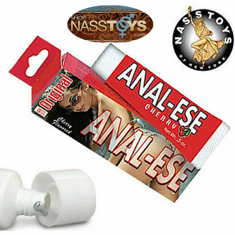Anal-Ese Cherry Lubricant Desensitizing Numbing Anal-Sex Lube NassToys Original - Men Guide Store