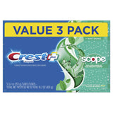 Crest Complete Whitening + Scope Toothpaste, Minty Fresh, 5.4 Ounce Triple Pack - Men Guide Store