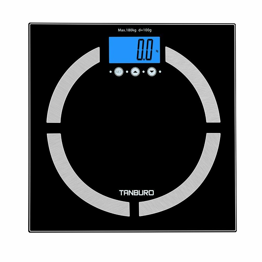 Digital Bathroom Smart Scale Body Weight Fat BMI Bone Calorie Analyzer 400lb - Men Guide Store