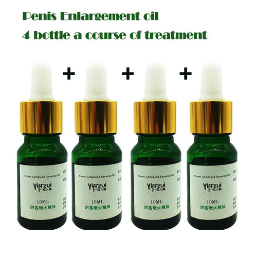 4pcs Fast Growth Herbal Developpe Penis Enlargement Oil Essential - Men Guide Store