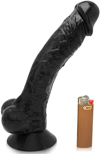 Huge Black 10'' Thick Realistic Dildo with Balls