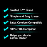 K-Y Duration Gel for Men - Last Longer & Enjoy The Moment, 36 pumps 0.16 oz - Men Guide Store