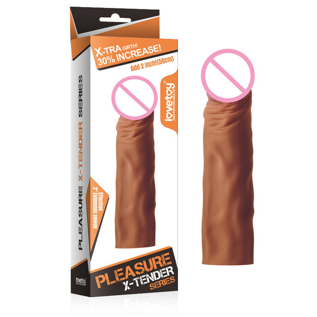 Lovetoy Silicone Reusable Dildo Condoms Flexible Penis Sleeves Sex Toy For Men Sex Products