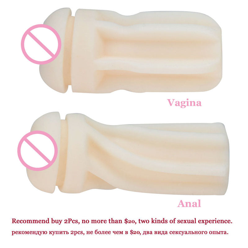 Male Masturbator Sex Toys for Men – Silicone Vagina Real Anal Pocket Pussy Masturbation Cup - Men Guide Store