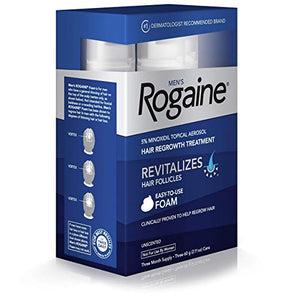 Men's Rogaine 5% Minoxidil Foam for Hair Loss and Hair Regrowth - Men Guide Store
