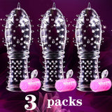 Newest Flexible Silicone spike Condoms Reusable Bump Enhance Extension