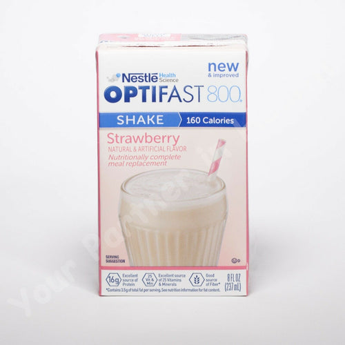 OPTIFAST 800 - READY TO DRINK SHAKES - STRAWBERRY - 27 SERVINGS - NEW & FRESH - Men Guide Store