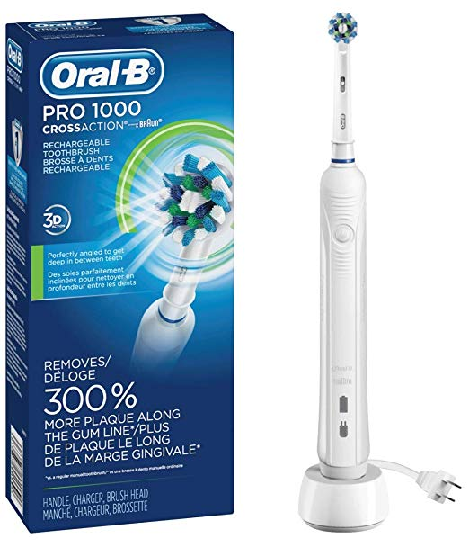 Oral-B White Pro 1000 Power Rechargeable Electric Toothbrush - Men Guide Store