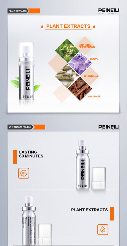 Peineili Penis Delay Spray for Men (80% SALE OFF Limited Time) ( 3 pcs )