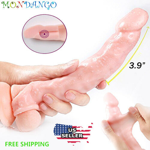 Penis Extender Girth Enhancer Realistic Sleeve Sheath Large Male 8 inch - Men Guide Store