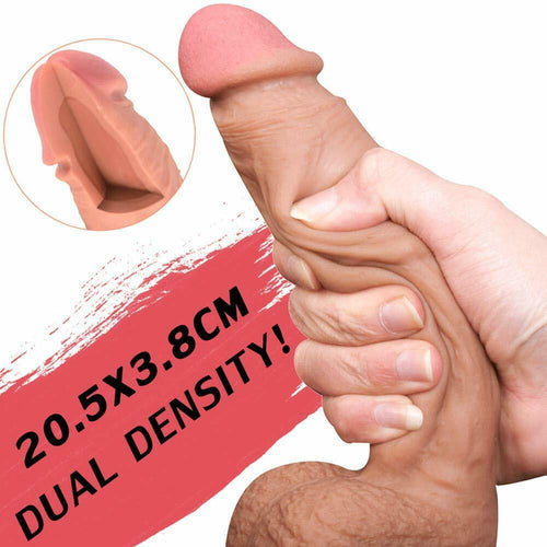 Realistic Huge Dildo Suction Cup Anal Vagina Sex Toy for Women Flesh Big Dong - Men Guide Store
