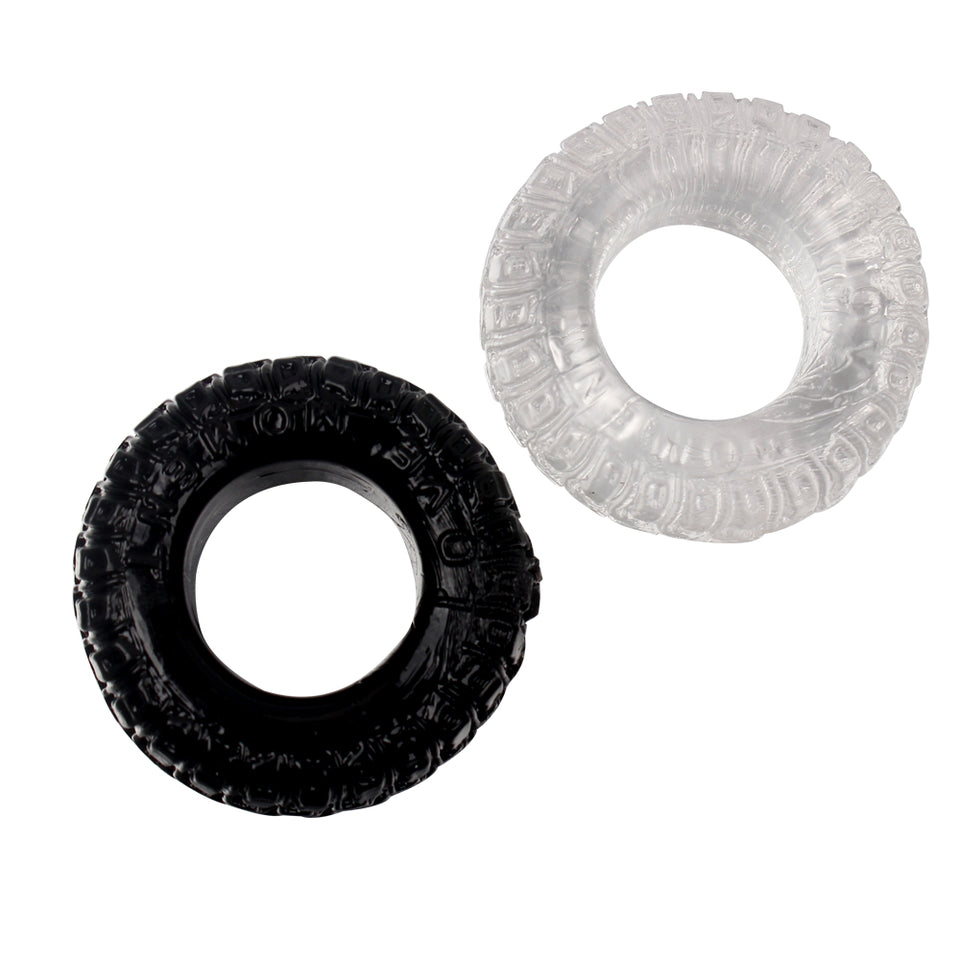 2Pcs/Set Tire Type Silicone Delay Ejaculation Cock Rings - Men Guide Store