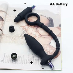 Prostate Massager – Vibrator Cock Ring Anal Plug Masturbator for Male Sex Products