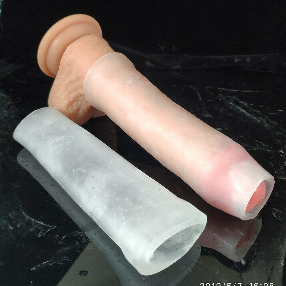 Silicone Sleeve Penis Enlarge Stretcher Pump ADS Enlargement AntiTurtle Jelqing - Men Guide Store
