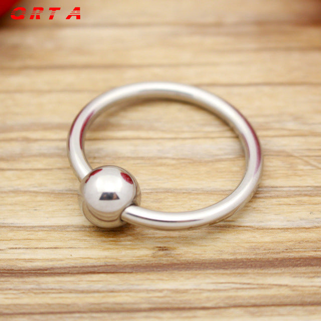 Male Chastity Device Stainless Steel Metal Cock Ring for Delayed Time in Sex - Men Guide Store