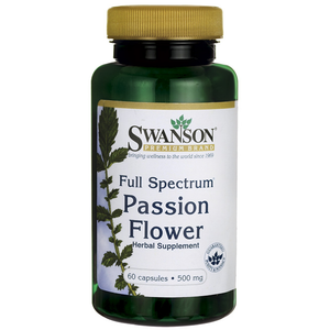 Swanson Full-Spectrum Passion Flower 500 mg 60 Caps - Men Guide Store