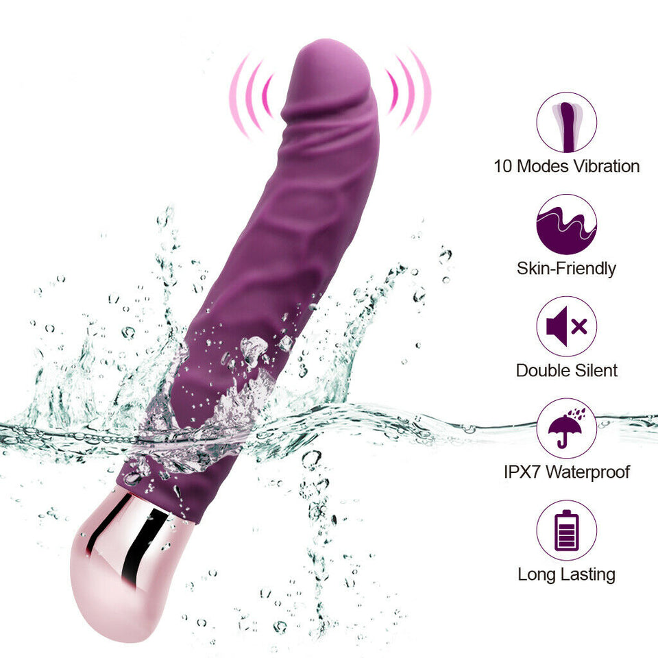 "Luvkis 8"" Silicone Realistic Bigger Dildo Vibrator Sex Toy for Women Masturbator - Men Guide Store"