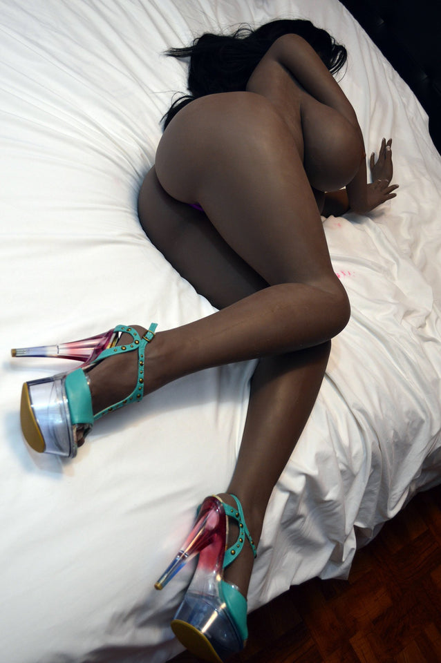Zara Sex Doll: Big Ass Black Sex Doll Dark Skin TPE Sex Doll 160 cm - Men Guide Store