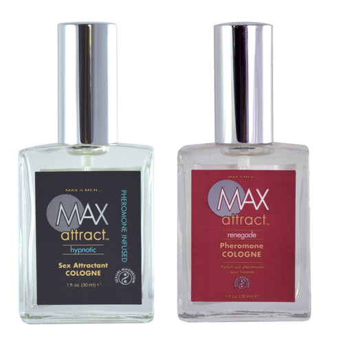 Max Attract Pheromone Attractant Cologne for Men 1oz Bottle Hypnotic or Renegade - Men Guide Store