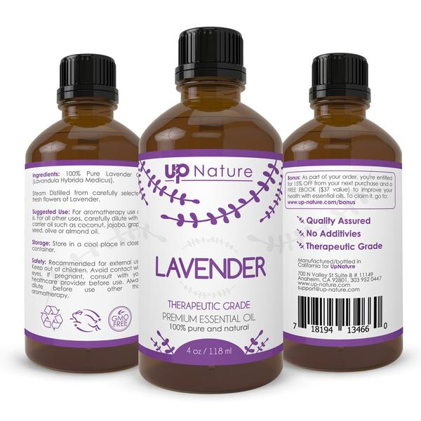 Lavender Essential Oil 4 Oz - Men Guide Store