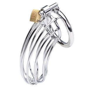 Stainless Steel Male Chastity Device Penis Ring - Men Guide Store
