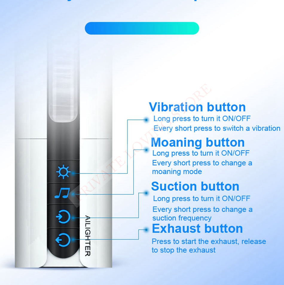 Heating Sex Machine Induced Vibration Artificial Vagina Sex Toy for Men - Men Guide Store