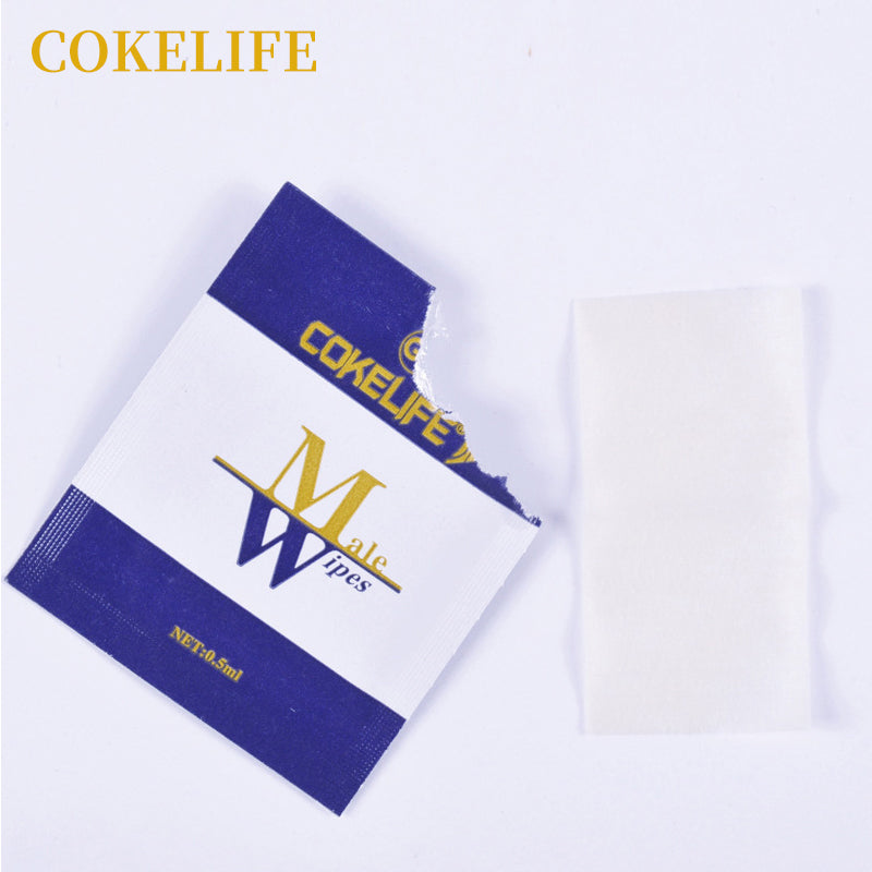 Premium Male Delay Ejaculation Wipes Natural Wet Tissue E.D Long Lasting Sex 12p - Men Guide Store