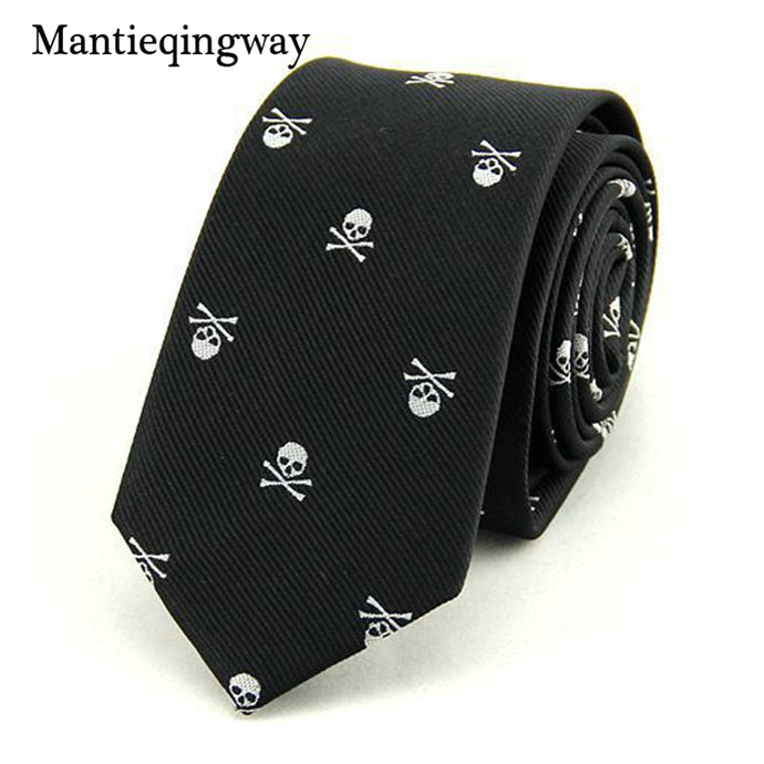 Men 6cm SKinny Polyester Silk Neckties - Men Guide Store