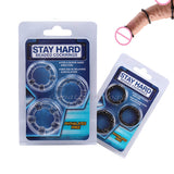 3Pcs Stay Hard Silicone Beaded Penis Rings For Men - Men Guide Store