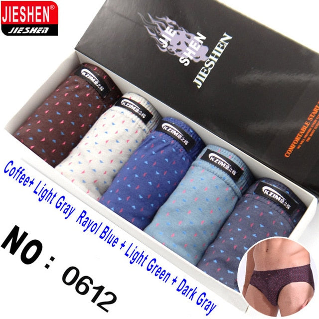 5 pieces boxed all cotton underwear ultra-large size  - MG 208 - Men Guide Store