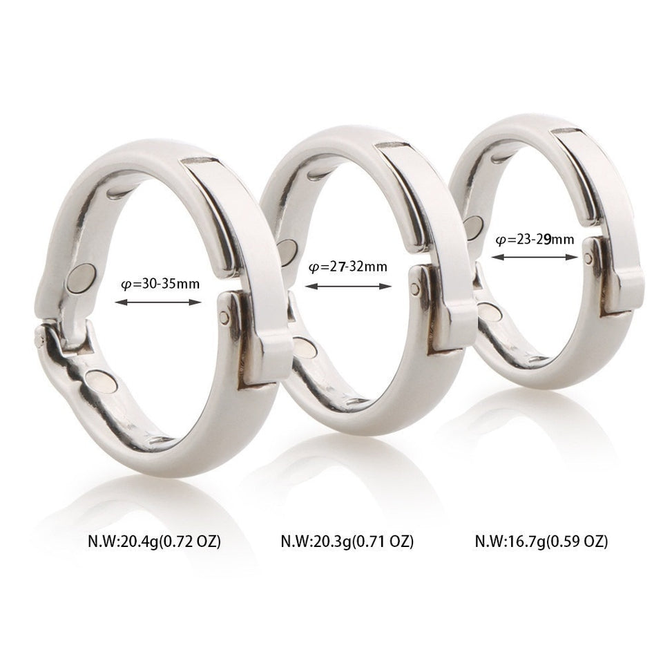 5 size Magnetic physiotherapy metal V type Circumcision erection penis cock Ring Sex Toy - Men Guide Store