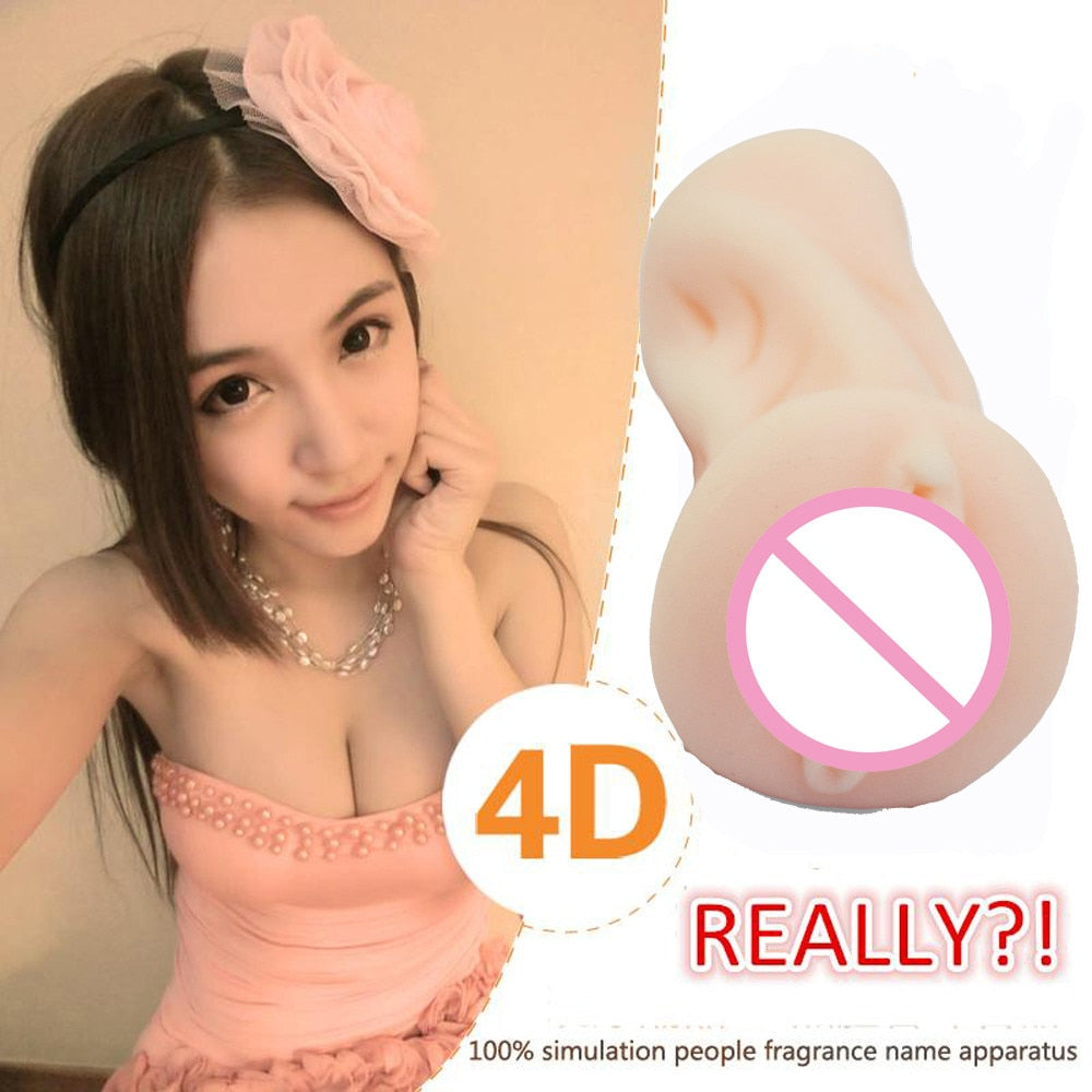 4D Male Masturbators Realistic Vagina Pussy Masturbation Cup Sex Toy For Men women - Men Guide Store