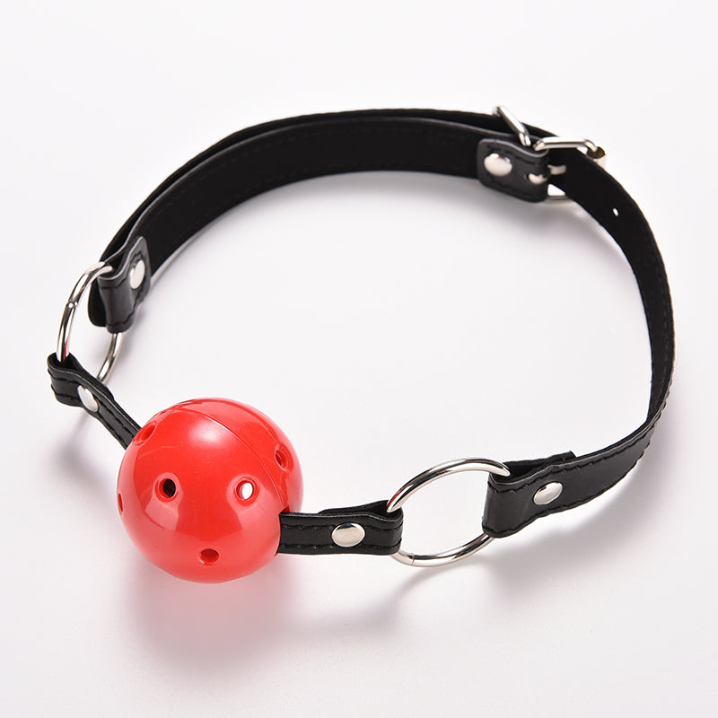PU Leather Band Ball Mouth Gag Oral Adult Games For Couples Flirting Sex Products Toys - Men Guide Store