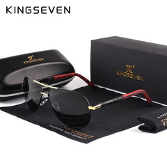 Men Vintage Aluminum Polarized Sunglasses Classic - SL06 - Men Guide Store