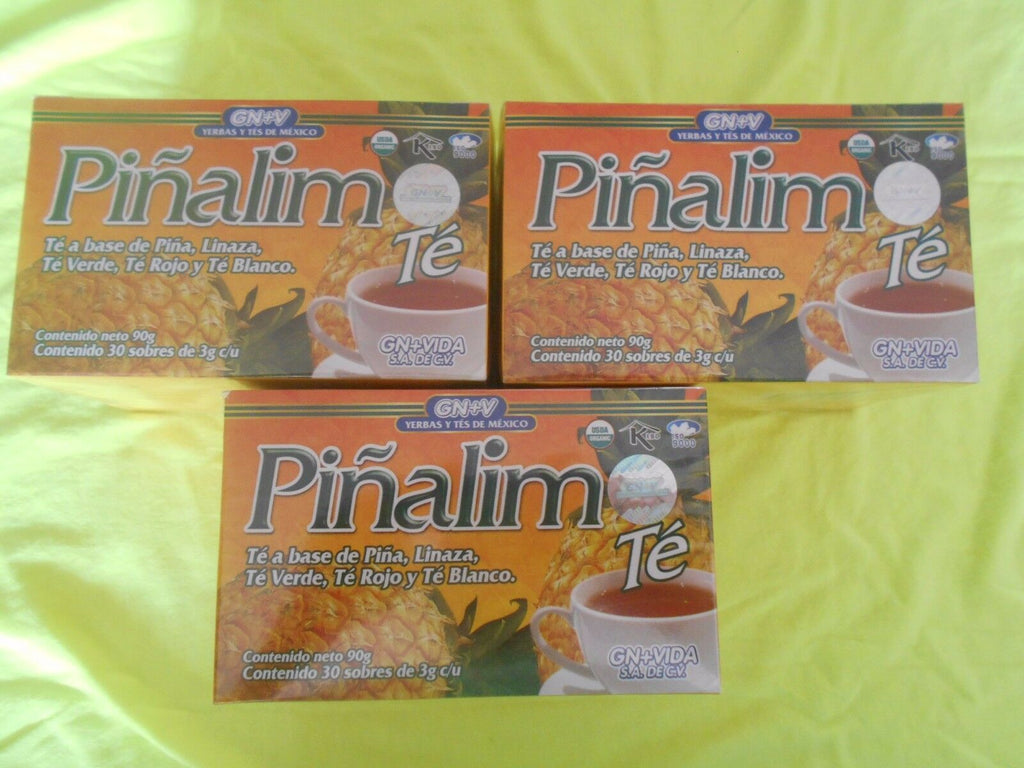 3 x PIÑALIM TEA GN+VIDA . PINALIM TEA (3 Boxes) DIET. DETOX. WEIGHT CONTROL. - Men Guide Store