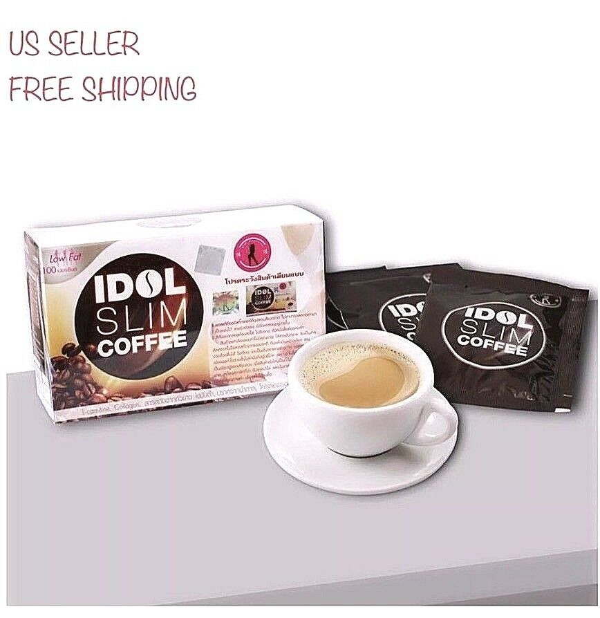 1 Box IDOL SLIM COFFEE Weight Loss Diet Drink SLIMMING BURN L-Carnitine Collag - Men Guide Store