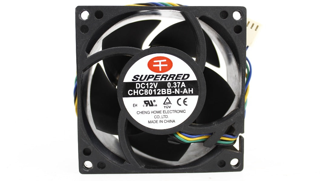 VENTILADOR SUPERRED CHC8012BB-N-AH 12V 0.37A