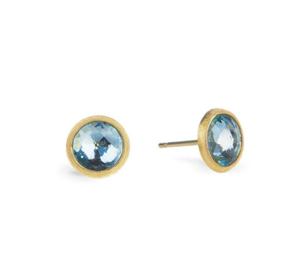 EARRINGS JAIPUR IN GOLD WITH BLUE TOPAZ