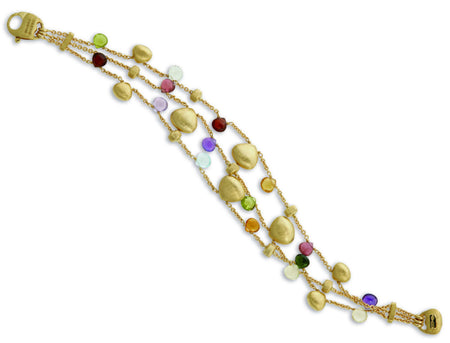 BRACELET PARADISE IN GOLD WITH IOLITE AND BLUE TOPAZ