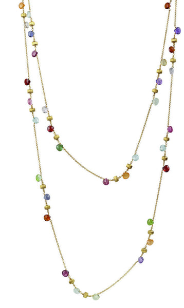 NECKLACE IN GOLD WITH SEMIPRECIOUS STONES