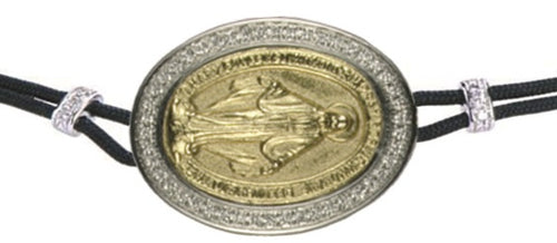 BRACELET WITH THE HOLY VIRGIN IN GOLD AND DIAMONDS