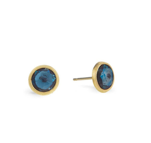 EARRINGS JAIPUR IN GOLD WITH LONDON BLUE TOPAZ