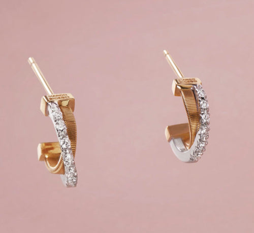 EARRINGS GOA IN GOLD AND DIAMONDS
