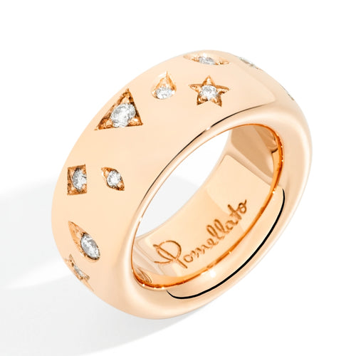 RING ICONICA LARGE IN GOLD AND DIAMONDS