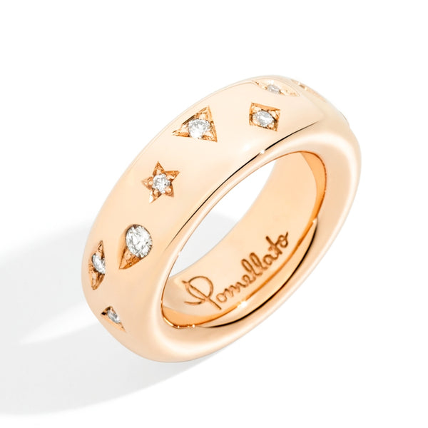 RING ICONICA MEDIUM IN GOLD AND DIAMONDS